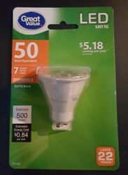 Great Value LED Light Bulb 7W 50W Equivalent Dimmable $9.00