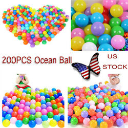 200pcs Ocean Ball Colorful Soft Fun Baby Kids Swim Pit  Pool Plastic Secure Gift