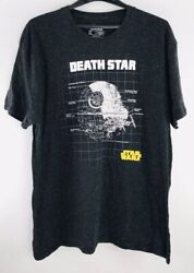Star Wars Death Star Grid T Shirt Adult Mens Black T Shirt XL $9.00