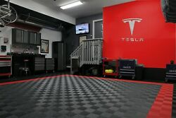 Tesla Letters and Logo Combo Sign 3 feet wide 39 inches tall Brushed Silver