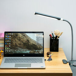 5W 48LED Desk Lamp Dimmable Flexible USB Clip-On Table Reading Book Light Gray