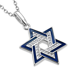 925 Sterling Silver Star of David Necklace Pendant $29.99