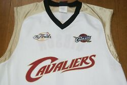 NBA Majestic 2007 Cleveland Cavs Cavaliers Finals Jersey Sz L or XL White