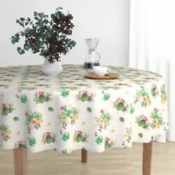 Round Tablecloth Striped 8