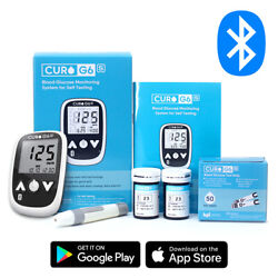 Blood Glucose Test Kit - Curo G6s - Home Self Monitor Glucose Meter - 50 Strips $22.99