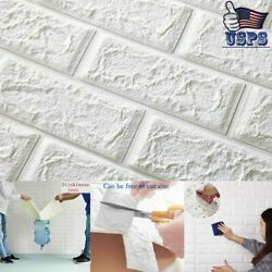 3D Self Adhesive Panels Wall Stickers Room Modern Decor Foam Embossed Brick DIY $30.79