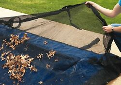 Rectangle Above or In-Ground Swimming Pool Winter Leaf Net Covers ~Various Sizes $42.99