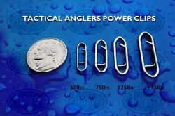 Tactical Anglers Power Clips Fast Snap Fishing Terminal Multipacks [25 - 175lb]