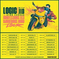 Logic Confessions of A Dangerous Mind Tickets 2FLOOR SEATS Chase Center San Fran