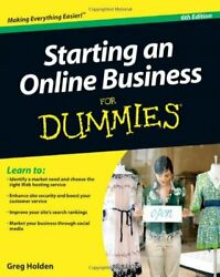 Starting an Online Business for Dummies by Holden Greg $5.62