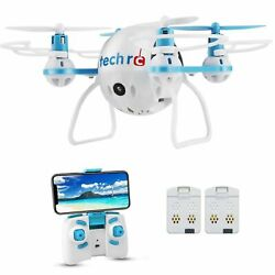Tech RC Mini Drone with HD Camera WiFi Live Video Quadcopter with Headle... New $45.00