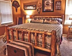 Rustic Log Bed MOST SOLD on Ebay NEW LOWER PRICE #1 Seller MOST SOLD $469.00