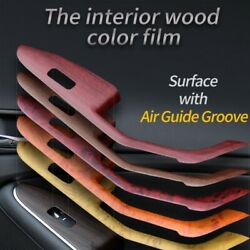 Car Interior Wood Grain Texture Vinyl Wrap Sticker Decal 30x100CM Rosewood Brown