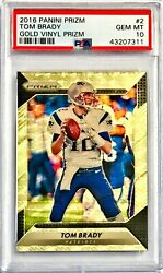 2016 Panini Prizm 11 TOM BRADY #15 Gold Vinyl Superfractor! PSA 10 Gem Mint 💎