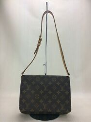 LOUIS VUITTON Musette Tango _ Monogram canvas PVC BRW (44087
