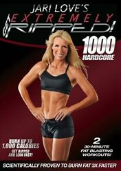 JARI LOVE GET EXTREMELY RIPPED 1000 HARDCORE DVD NEW TONING WEIGH
