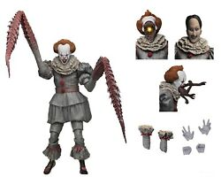 """IT - 7"""" Scale Action Figure - Ultimate Pennywise The Dancing Clown (2017) - NECA"""