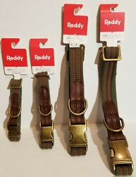 REDDY WEBBED DOG COLLAR VARIOUS SIZES AND COLORS BRAND NEW $13.75