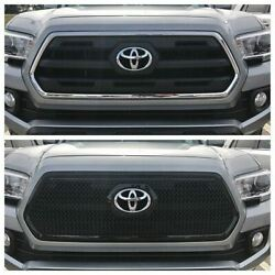 Black Horse 2016-2019 Toyota Tacoma Overlay Grille Trims Gloss Black