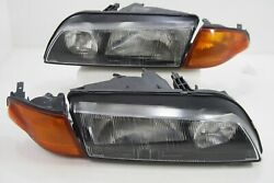 JDM Skyline R32 GTR GTT N1 Front Headlights Lamp Amber Corner Light OEM RARE SET