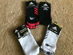 Adidas Traxion Tennis Socks Mens Womens Assorted Colors and Styles Crew NoShow $12.99
