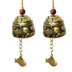 Fish Pendent Hanging Mini Carp Pattern Wind Chime Lucky Bell Home Temple Decor