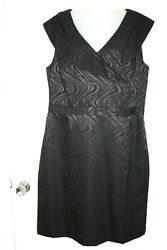 New Tahari By Asl Women Black Cocktail Dress Size 16 $29.99