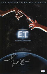 JOHN WILLIAMS SIGNED E.T. THE EXTRA TERRESTRIAL 11X17 MOVIE POSTER PSA P45690