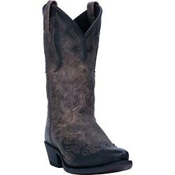 LAREDO Shadow 6766 Mens 12quot; Black Tan Leather Western Boots $142.95