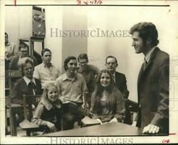 1972 Press Photo Family of Ransom Myers attends family day at Rice University