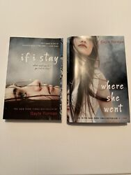 Gayle Foreman If I Stay Where She Went 2 Book Set Like New PBHC