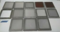 Lot of 13 Solid Aluminum Frame Silk or Stainless Screen Appox. 6.625 x 6.625 $80.00