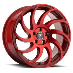 SET OF 4 NEW VENOM WHEELS 32 17X8 5X105 +31 NEON RED