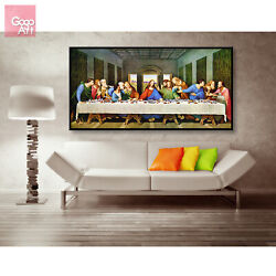 Canvas print wall art decor poster The Last Supper Famous Biblical Painting vbf $21.00