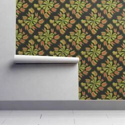 Peel-and-Stick Removable Wallpaper Venus Fly Trap Diamonds Summer Botanical