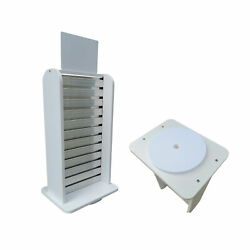 Slatwall Rack Countertop White Merchandiser Slatwall Display 2 Sided Stand Tabel $35.26