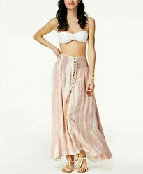 NWT Raviya Swimsuit Tie Dyed Swimsuit Cover Up Skirt Nude Pink Size M $14.69