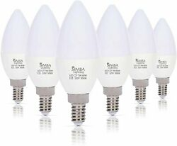 [6 Pack] LED Candelabra B11 C37 Bulb 7W 60W Replacement E12 Base 120V 5000K Day $13.80