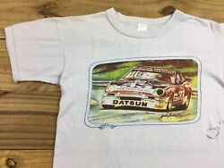 VTG 80's Trackside Souvenirs Bob Sharp Racing Datsun T-Shirt S Jack Lane Art