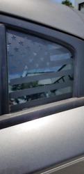 2011+ Dodge Charger rear side window flag.