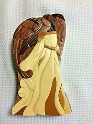 DANIEL TERRICO HAND CARVED EXOTIC WOOD ANGEL PUZZLE BOX NEW