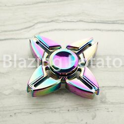 RAINBOW Hand Spinner Tri Spinners Figet Desk Toy Focus EDC ADHD -NEW- ☆USA☆ #I $8.99
