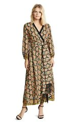 Rhode Resort Lena Dress Small Long Wrap Dress NEW WITH TAGS $275.00