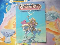 Vintage 1980's Golden Girl figure doll coloring activity book Galoob she-ra