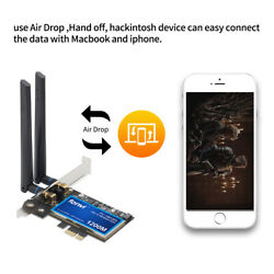macOS Hackintosh WiFi PCIE wifi card Dual Band 1200Mbps BT4.0 PC Network adapter $37.99