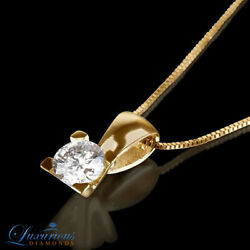 Enhanced Women Solitaire Diamond Pendant Set 1.65 Carat F VVS1 14K Yellow Gold
