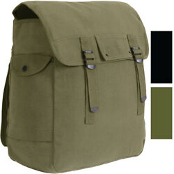 Large Canvas Musette Bag Military Army Camping Tactical Heavy Duty 15quot;x15quot;x5quot; $24.99