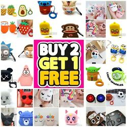 AirPods Cute 3D Cartoon Silicone Case cover For Airpod 1 & 2 Charging Case Best $9.99