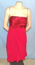 Awesome amp; Chic David's Bridal Strapless Burgundy Cocktail Dress Size 14 $17.99