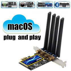 T919 PCIe Hackintosh macOS WiFi Adapter BCM94360CD 1750Mbps BT4.0 PCIe WiFi Card $48.99